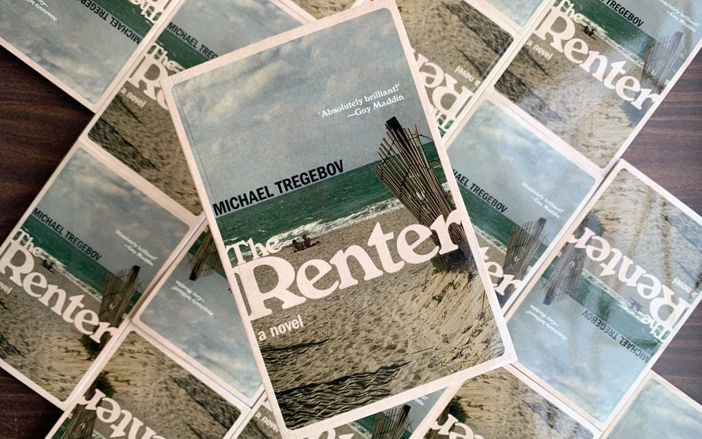 A tiled background of copies of The Renter with a single copy in the foreground.